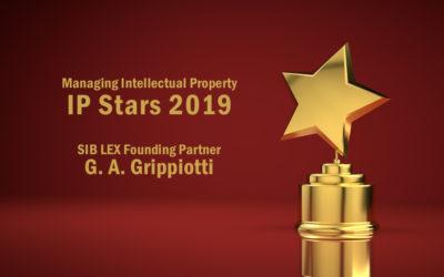 Riconoscimento IP Star 2019 nel contenzioso marchi per G. A. Grippiotti